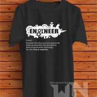 Kaos Baju T-shirt Teknik Engineer Logo