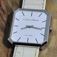 CALVIN KLEIN Jam Tangan Wanita. Putih. Swiss Made. Original
