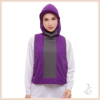 Attiqahijab | Sport HIJAB - Long Runner Vest - Purple