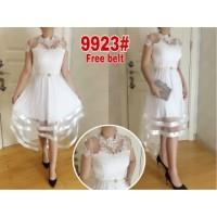 Dress pesta 9923# dress ekor  dress nyanyi baju pesta putih baju penga
