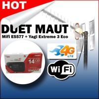 DUET MAUT ANTENA YAGI EXTREME III ECONOMIC + MODEM MIFI HUAWEI E5577