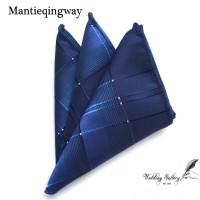 pocket square sapu tangan handkerchief ready stok motif biru navy