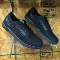 Sepatu Vans Replika Hitam Polos | Sepatu Sekolah Hitam