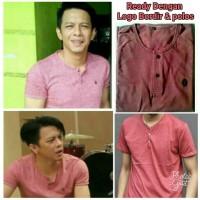 Henley Ariel Noah Marun Pendek T-shirt GRLT Ariel Kaos Baju Greenlight