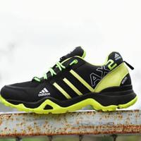 PROMO  Sepatu Outdoor Adidas AX2 Goretex Hitam Hijau Stabilo / Sport