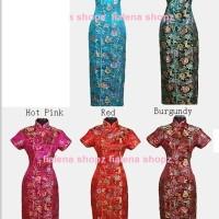 Cheongsam Tang Long dress Qipao Cantik BANYAK BIG SIZE XXXL