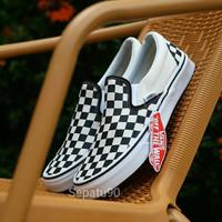 sepatu vans chekerboard papan catur hitam putih 37-43