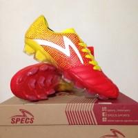 Best Sepatu Bola Specs Equinox FG Emperor Red Yellow 100794 Original