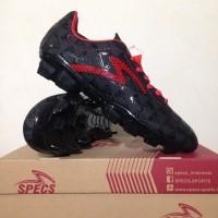 Best Sepatu Bola Specs Quark FG Black Emperor Red 100756 Original BNI