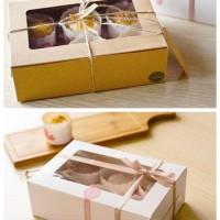 kotak coklat besar 24 cm x 16 cm samson untuk bolu tart kue imlek