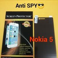 Anti Gores Screen Protector SPY Hitam Nokia 5