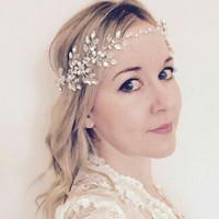 Bando crystal / mahkota bunga / accesories / mahkota crystal