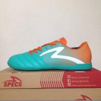Premium Sepatu Futsal Specs Equinox IN Comfrey Green Orange 400712 Or
