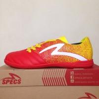Premium Sepatu Futsal Specs Equinox IN Emperor Red Yellow 400711 Orig