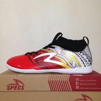 Premium Sepatu Futsal Specs Heritage IN Emperor Red White 400749 Orig