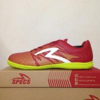 Premium Sepatu Futsal Specs Apache IN Dark Red 400656 Original BNIB S