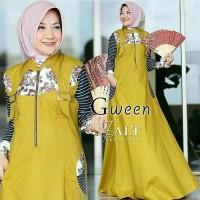 baju tanah abang gamis Maxi Gween Kuning