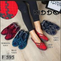 kiddo f595 sepatu anyaman rajut wanita ORI