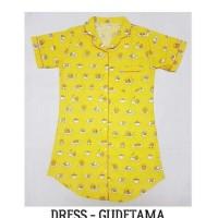 thee best0131 daster piyama wanita besar- gudetama big size dress