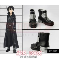 Sepatu Kirito Sword Art Online Cosplay