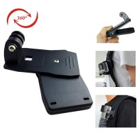 rotary backpack clip mount holder for gopro - xiaomi yi - kogan - dll
