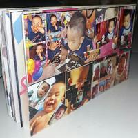 desain album kolase mini 4R 10 sheet 20 halaman