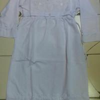 baju muslim anak gamis putih polos size 13 - 15