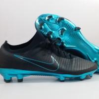 Sepatu Bola Nike Vapor 11 FLyknit Ultra Black Blue FG replika Impor