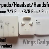 Headset Handsfree Earpods Earphone Apple iPhone 7 7+ Original 100%