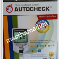 Alat Cek up Tes Gula Darah Urat Kolesterol Autocheck Auto Check 3 in 1