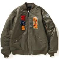 BAPE Bomber Jacket MA-1 Men Olive