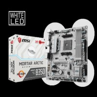 Motherboard MSI B350M MORTAR ARTIC AMD Socket AM4 DDR4 Terbaru