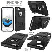 iPhone 7 Plus 8 Plus - Heavy Duty Rugged Armor Stand Case