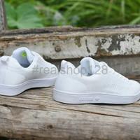 Diskon Sepatu Adidas Neo Advantage Grade Ori Full Putih Sneakers Casu