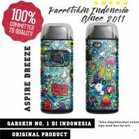 Garskin Aspire Breeze kit mod vape doodle edition - free custom