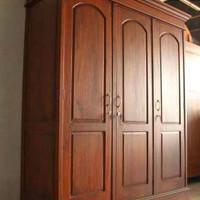 Lemari Pakaian Minimalis Pintu 3 jati (KnockDown)