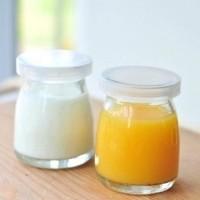 Botol Jar Toples Kaca (PENDEK) 100ML : Puding / Selai / Susu / Yoghurt