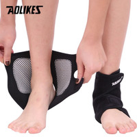 Magnet Ankle Support Brace Foot 1Pair Self Heating Tourmaline AOLIKES