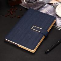 Buku Tulis Agenda Catatan Kerja Cover Kulit Kertas A5 Blue
