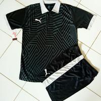 Kaos Setelan Olahraga Puma Kerah / Jersey Futsal / Baju Kostum Bola
