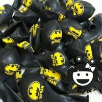 balon sablon batman warna hitam untuk pesta ulang tahun