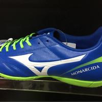 Sepatu futsal mizuno original Monarcida 2 FS in wide blue-white murah