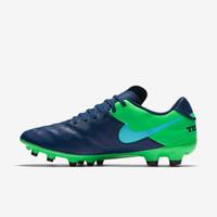 Sepatu bola nike original Tiempo Genio 2 leather FG murah blue/green
