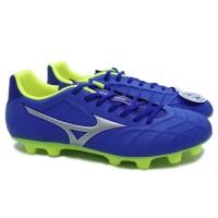 Sepatu Bola Mizuno Rebula V3 - Strong Blue Silver Safety Yellow