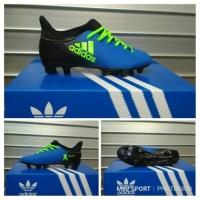 sepatu bola anak adidas x biru kombinasi hijau superfly