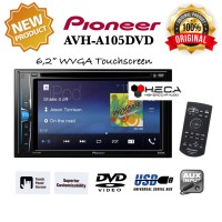 Pioneer AVH-A105DVD Head Unit Double din Tape Audio Mobil AVH A105 DVD