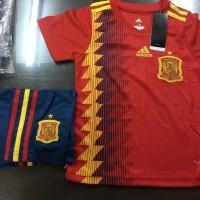 JERSEY BAJU BOLA SPANYOL HOME KIDS (ANAK) WORLD CUP 2018 GRADE ORI