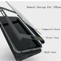Cover depan belakang + Tempered Glass Oppo F5 Pro 6 Gold