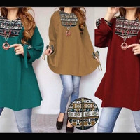 batik tunik atasan baju hijab muslim blouse bluss busui ibu menyusui