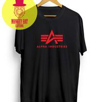 T-Shirt/kaos alpha industries black-hype-dear aysha